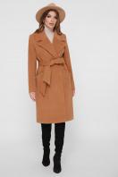 коричневое пальто из кашемира. Пальто ПМ-125. Цвет: 6-горчица купить