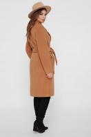 коричневое пальто из кашемира. Пальто ПМ-125. Цвет: 6-горчица цена
