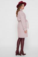 персиковое пальто с поясом. Пальто ПМ-129. Цвет: 17-персик цена