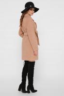 светло-серое двубортное пальто. Пальто ПМ-132. Цвет: 11-горчица цена