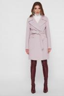 серое пальто с накладными карманами. Пальто ПМ-123. Цвет: 16-пудра купить