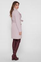 серое пальто с накладными карманами. Пальто ПМ-123. Цвет: 16-пудра цена