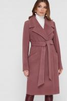 коричневое пальто из кашемира. Пальто ПМ-125. Цвет: 12-слива купить