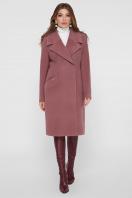 коричневое пальто из кашемира. Пальто ПМ-125. Цвет: 12-слива цена