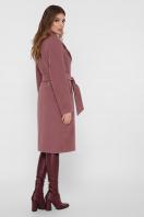 коричневое пальто из кашемира. Пальто ПМ-125. Цвет: 12-слива в интернет-магазине