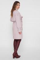 персиковое пальто с поясом. Пальто ПМ-129. Цвет: 16-пудра цена