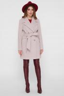 светло-серое двубортное пальто. Пальто ПМ-132. Цвет: 26-св.серый купить