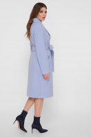 коричневое пальто из кашемира. Пальто ПМ-125. Цвет: 67-голубой купить