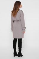 персиковое пальто с поясом. Пальто ПМ-129. Цвет: 12-серый цена