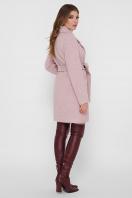 светло-серое двубортное пальто. Пальто ПМ-132. Цвет: 27-пудра цена