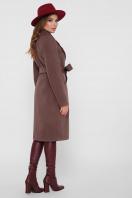 коричневое пальто из кашемира. Пальто ПМ-125. Цвет: 3-коричневый цена