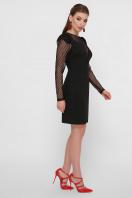 синее платье в горошек. платье Береника д/р. Цвет: черный цена