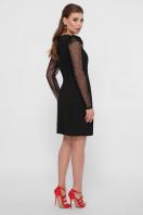 синее платье в горошек. платье Береника д/р. Цвет: черный в интернет-магазине