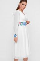белое платье в этно стиле. Цветы-орнамент платье Лианна д/р. Цвет: белый цена