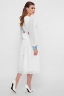 белое платье в этно стиле. Цветы-орнамент платье Лианна д/р. Цвет: белый в интернет-магазине