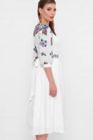 платье белого цвета с цветами. Цветы платье Миранга 3/4. Цвет: белый купить