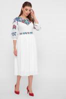 платье белого цвета с цветами. Цветы платье Миранга 3/4. Цвет: белый цена