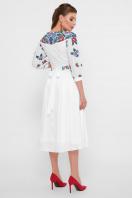 платье белого цвета с цветами. Цветы платье Миранга 3/4. Цвет: белый в интернет-магазине
