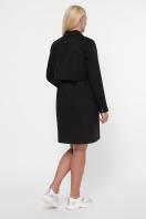 бордовое платье для полных женщин. 0301 Платье-рубашка. Цвет: черный в Украине