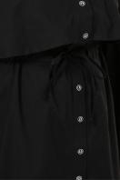 бордовое платье для полных женщин. 0301 Платье-рубашка. Цвет: черный недорого