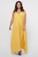 длинное платье больших размеров. 0302 Платье пляжное. Цвет: горчица цена