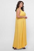 длинное платье больших размеров. 0302 Платье пляжное. Цвет: горчица в интернет-магазине