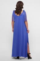 длинное платье больших размеров. 0302 Платье пляжное. Цвет: синий в интернет-магазине