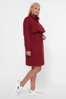бордовое платье для полных женщин. 0301 Платье-рубашка. Цвет: бордо в интернет-магазине