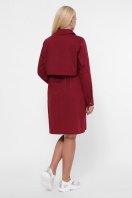 бордовое платье для полных женщин. 0301 Платье-рубашка. Цвет: бордо в Украине