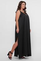 длинное платье больших размеров. 0302 Платье пляжное. Цвет: черный в Украине