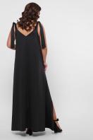 длинное платье больших размеров. 0302 Платье пляжное. Цвет: черный недорого