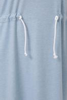 спортивное платье для полных женщин. 0303 Платье спорт. Цвет: голубой недорого