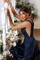 лиловое платье в пол. платье Мэйси б/р. Цвет: синий в интернет-магазине