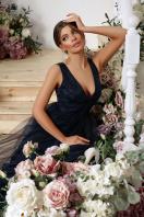 длинное синее платье. Платье Вайнона б/р. Цвет: синий в Украине