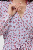 . платье Алеста д/р. Цвет: голубой-цветы красн. недорого