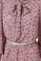 платье из шифона с рукавом три четверти. платье Малика д/р. Цвет: лиловый-цветы синие недорого