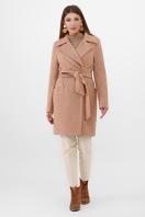 бежевое пальто с поясом. Пальто ПМ-100. Цвет: 11-горчица купить
