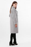 двубортное бежевое пальто. Пальто ПМ-135. Цвет: 294-серый в интернет-магазине