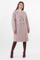 двубортное бежевое пальто. Пальто ПМ-135. Цвет: 290-бежевый цена