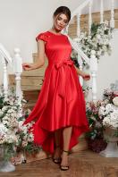 атласное красное платье. платье Нинель к/р. Цвет: красный купить