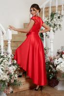 атласное красное платье. платье Нинель к/р. Цвет: красный цена