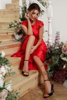 атласное красное платье. платье Нинель к/р. Цвет: красный в интернет-магазине
