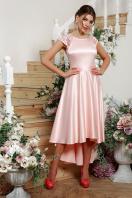 атласное красное платье. платье Нинель к/р. Цвет: св. розовый купить