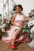 атласное красное платье. платье Нинель к/р. Цвет: св. розовый в интернет-магазине