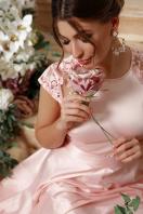 атласное красное платье. платье Нинель к/р. Цвет: св. розовый в Украине