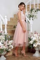 пышное платье миди. платье Джуди б/р. Цвет: персик цена