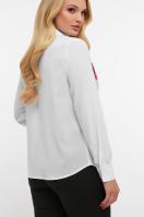 блузка с маками больших размеров. Маки блуза Лекса-Б КШ д/р. Цвет: белый купить