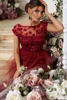 бордовое вечернее платье. платье Августина б/р. Цвет: бордо в интернет-магазине