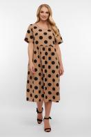 . платье Ирма-Б к/р. Цвет: капучино-черный горох б. купить