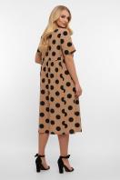 . платье Ирма-Б к/р. Цвет: капучино-черный горох б. цена